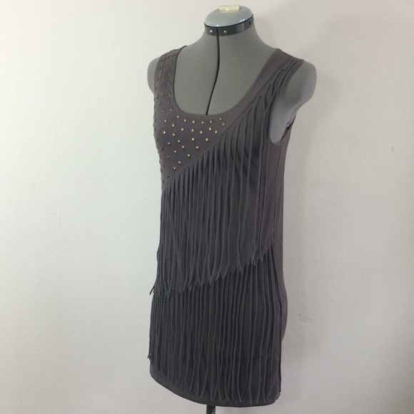 ff05ab46d7b a gaci Dresses   Skirts - A gaci grayish purple fringe tank mini dress
